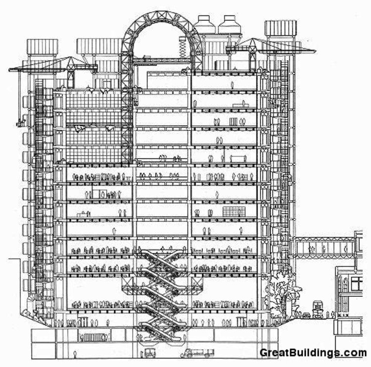 Architecture Building Drawing ad classics: lloyd's of london building / richard rogers | archdaily