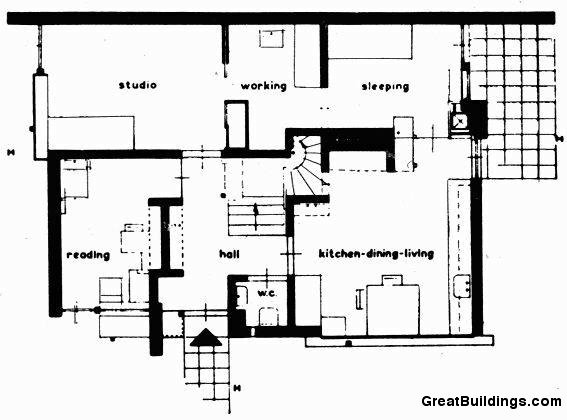 Gallery of ad classics rietveld schroder house gerrit for Ad house plans