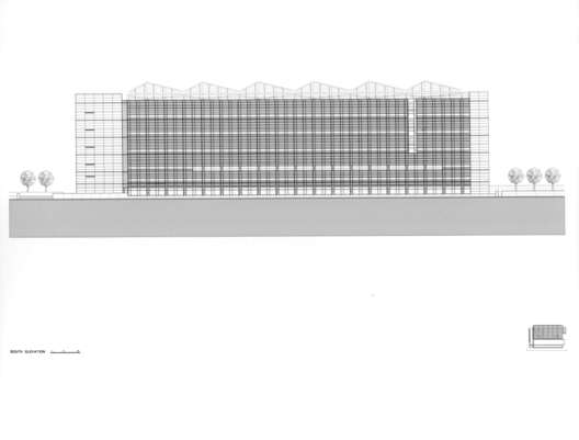 South Elevation, Courtesy of Richard Meier & Partners Architects