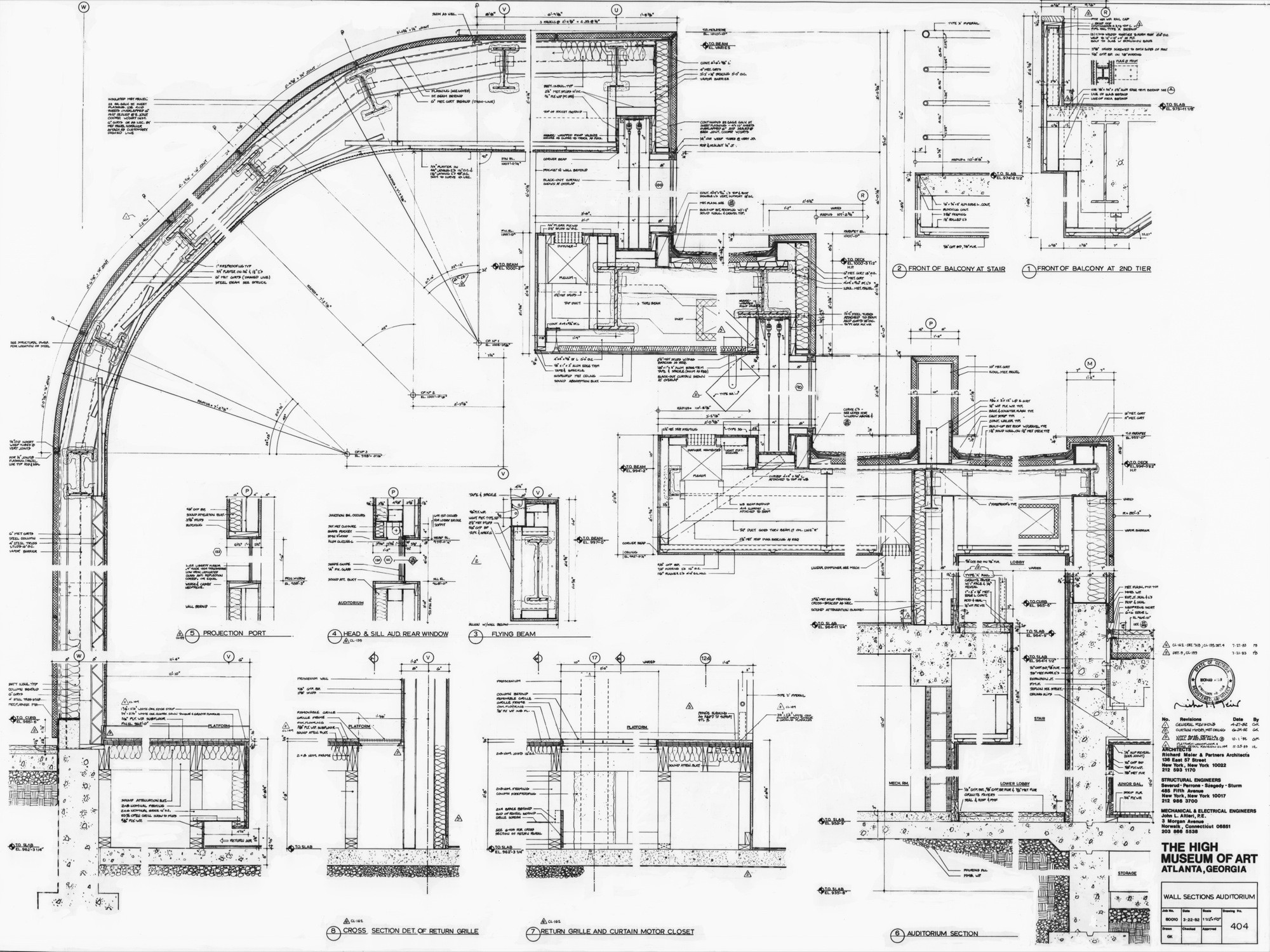 Gallery of ad classics high museum of art richard meier for Architecture plan drawing
