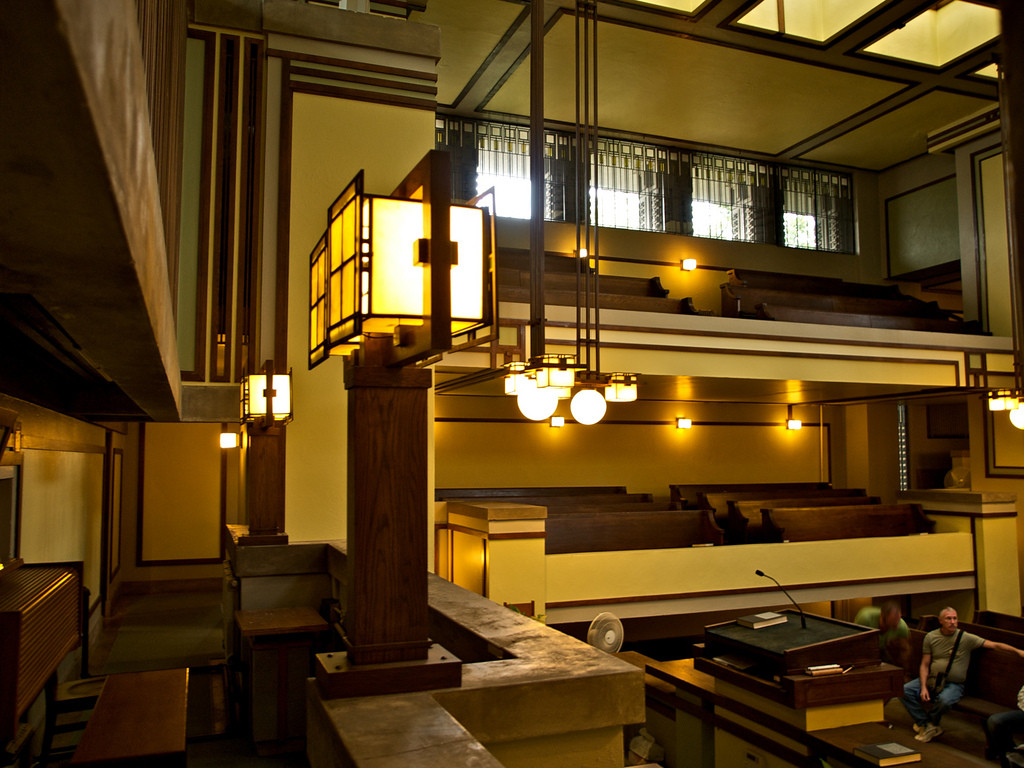 Gallery of ad classics unity temple frank lloyd wright 21 for Lloyds architecture planning interiors