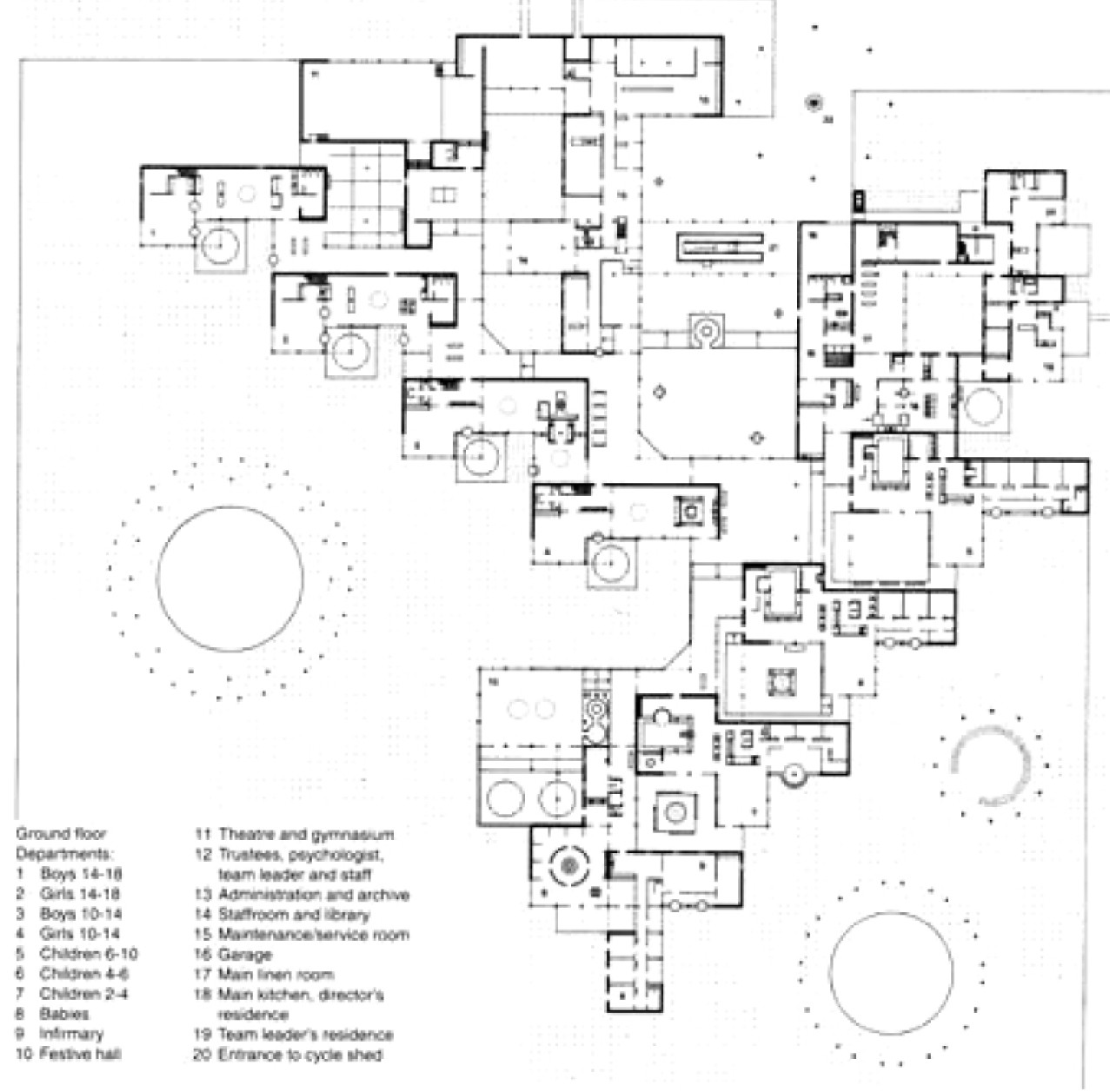 Gallery of ad classics amsterdam orphanage aldo van for Commercial building blueprints free
