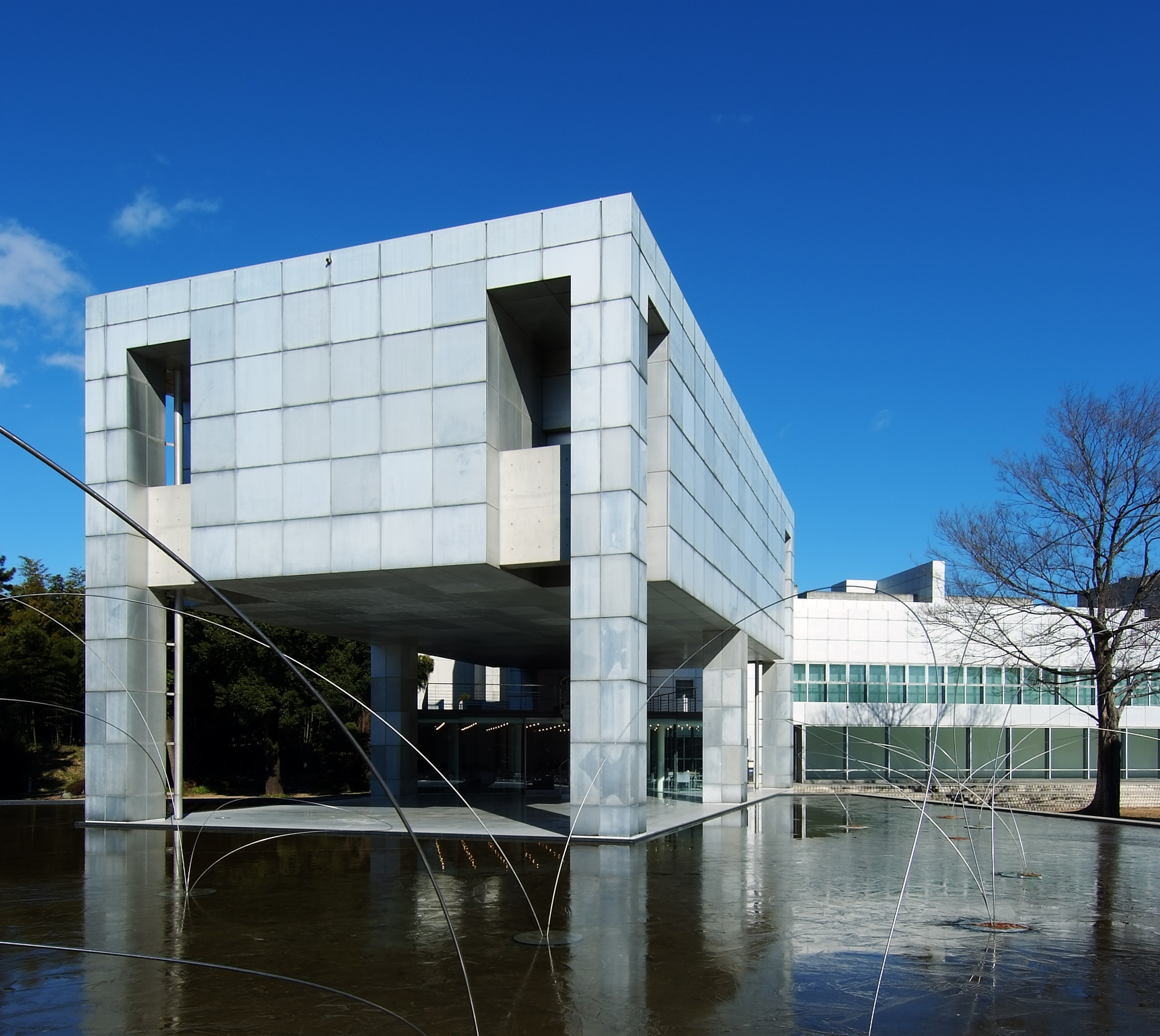 ad classics museum of modern gunma arata isozaki archdaily