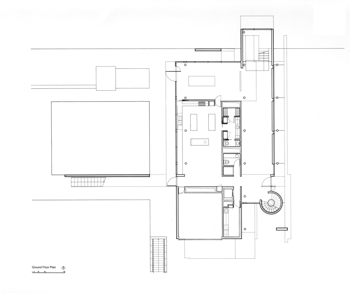 AD Classics: Rachofsky House,Ground Plan