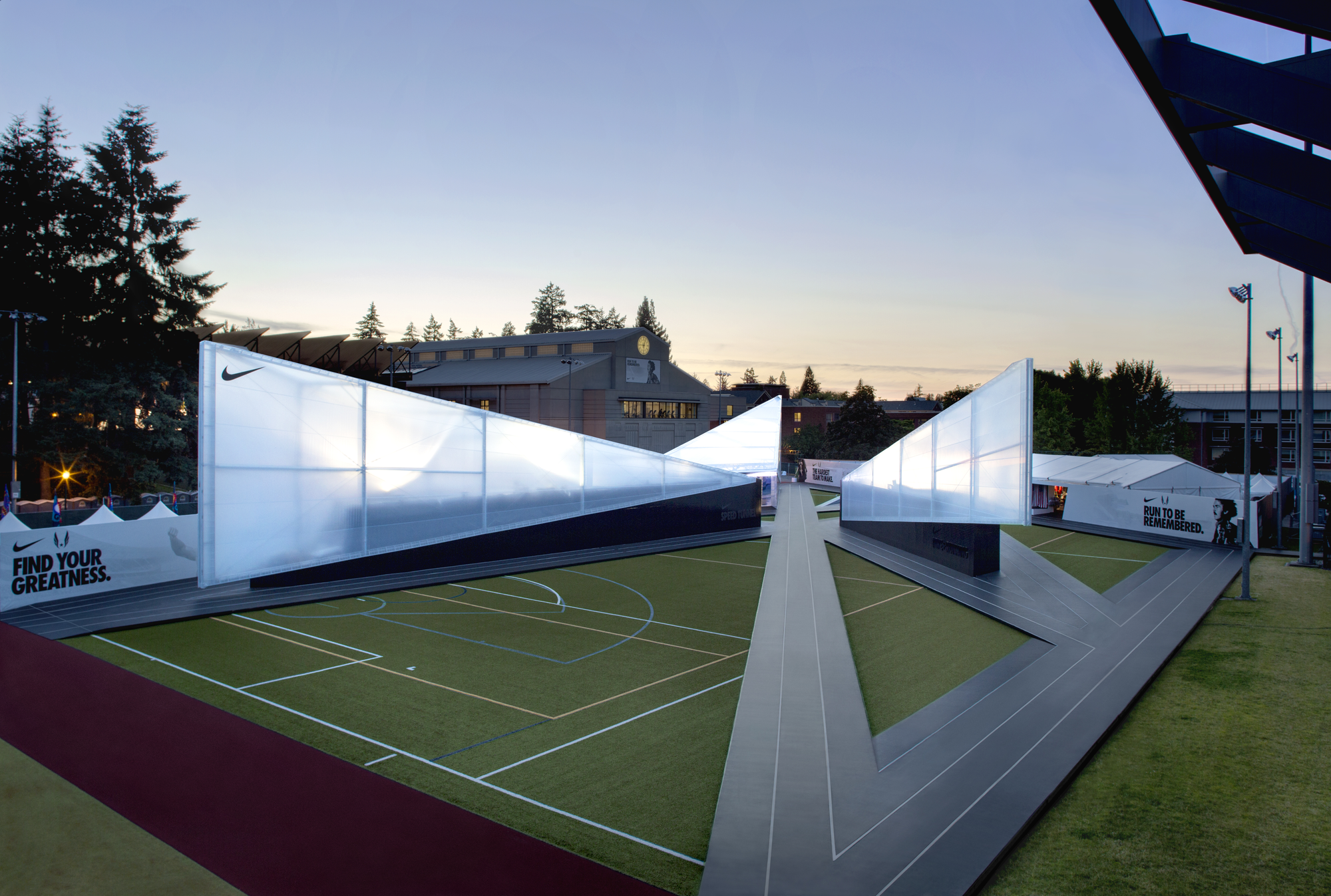 Nike Camp Victory Skylab Architecture Archdaily