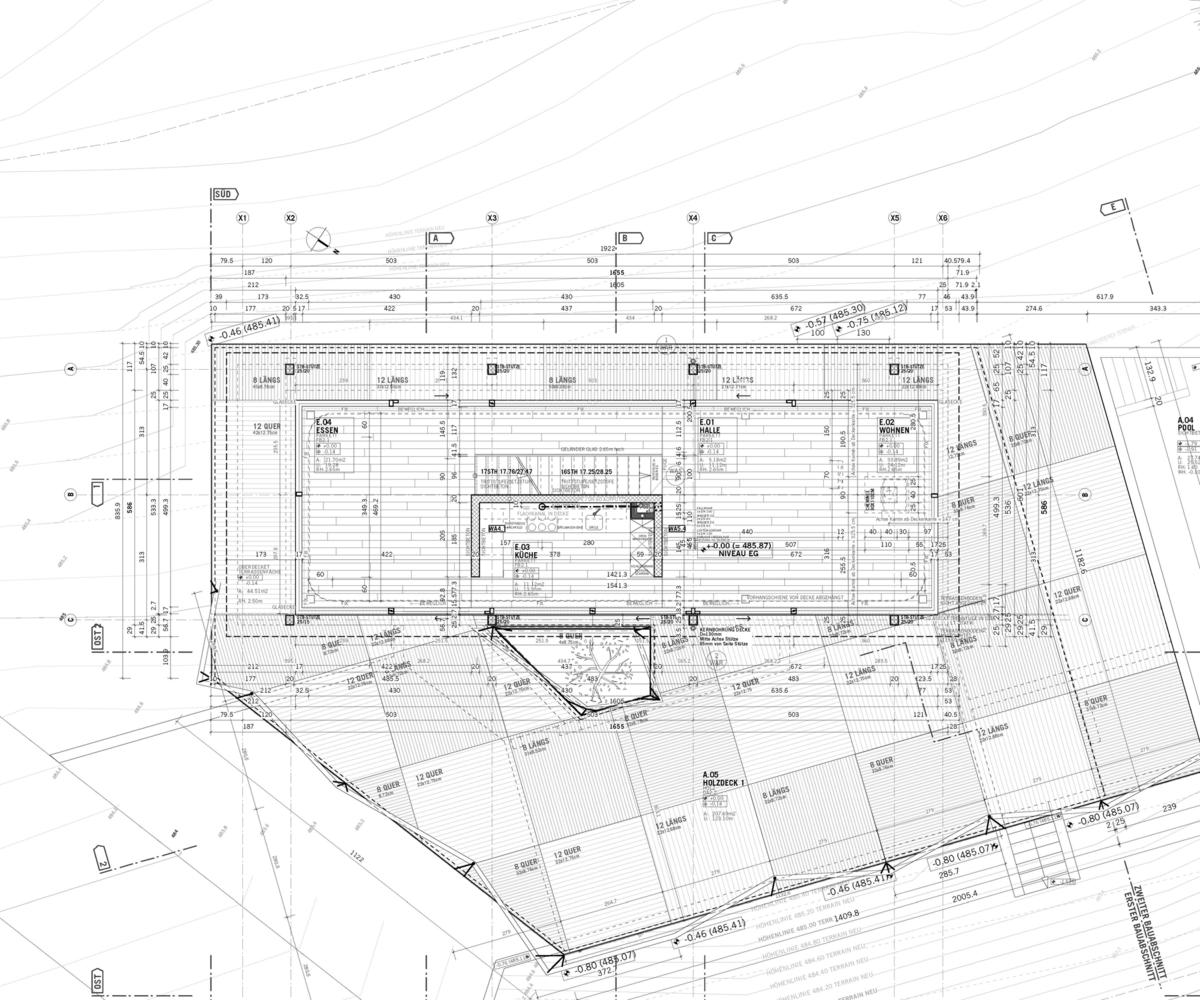 Elegant House D,Plan