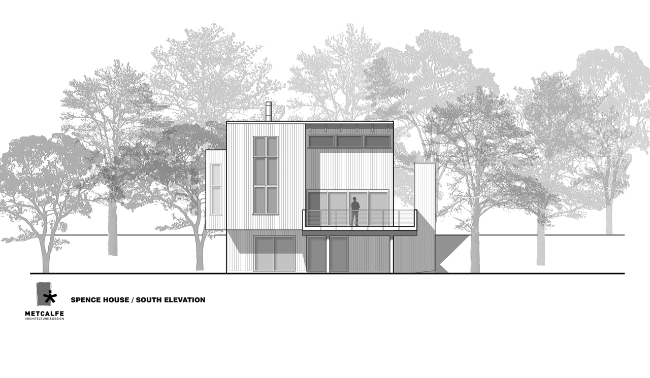 Gallery of spence house metcalfe architecture design 10 for Architecture elevation