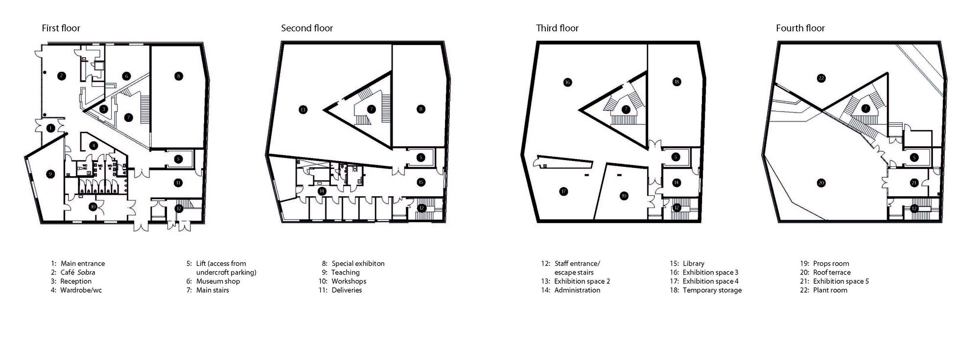 D Exhibition Floor Plan : Gallery of sogn fjordane art museum c f møller