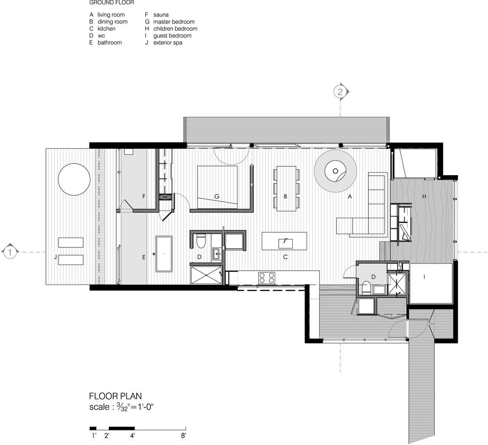 Gallery of la luge yh2 architecture 23 Louisiana house plans designs