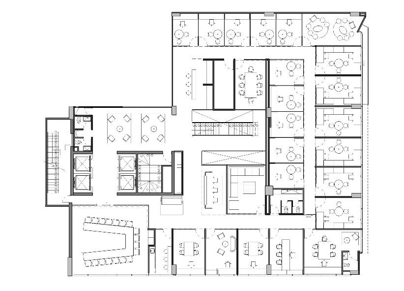 Galer a de oficinas jwt aei arquitectura e interiores 14 for Oficinas planta arquitectonica