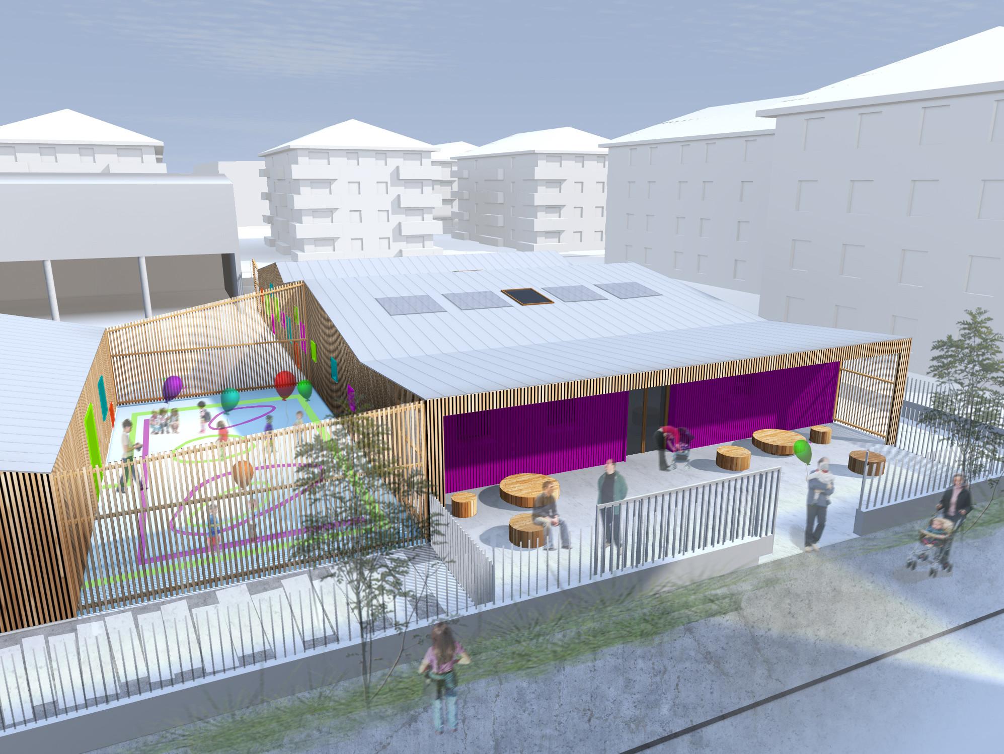 Edificio de Educación Infantil y Haurreskola / Hiribarren-Gonzalez + Estudio Urgari, Cortesia de Hiribarren-Gonzalez + Estudio Urgari