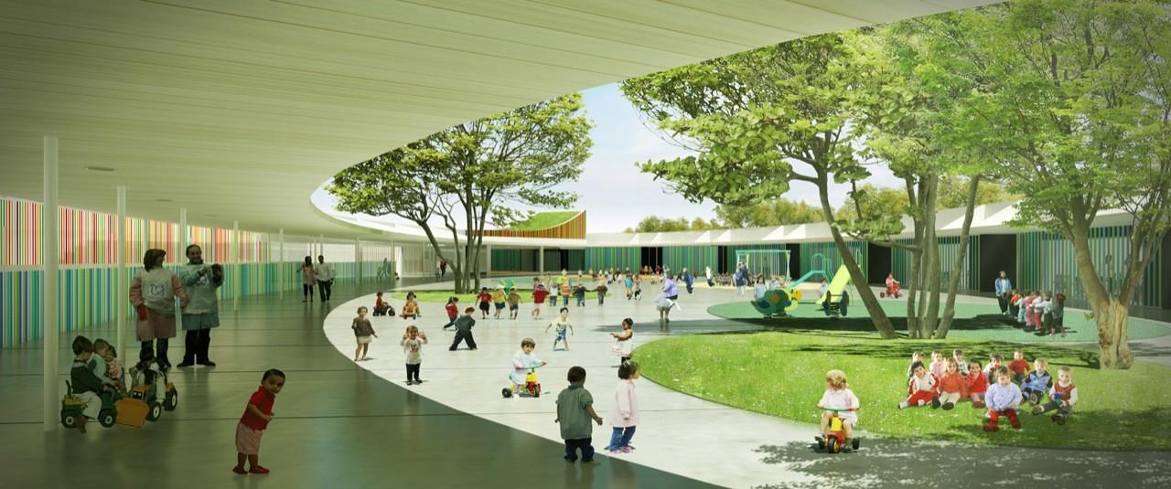 Jard n infantil en valdespartera mag n arquitectos for Jardin infantil