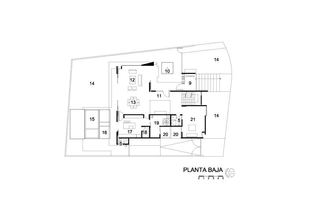 Galer a de casa ml agraz arquitectos sc 54 - Planos de arquitectos ...