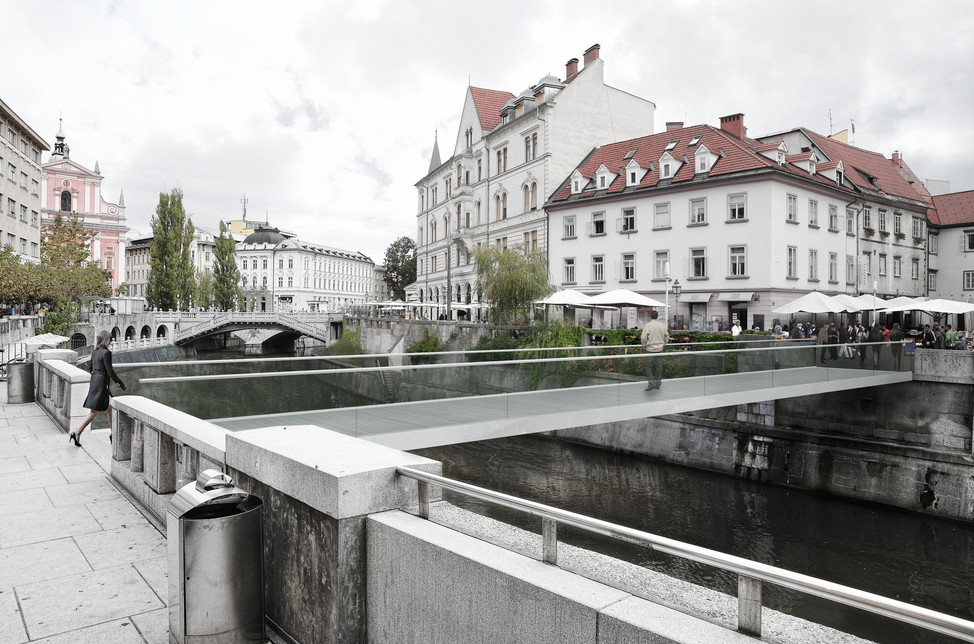 Footbridge in Ljubljana / Arhitektura d.o.o., Courtesy of Arhitektura d.o.o.