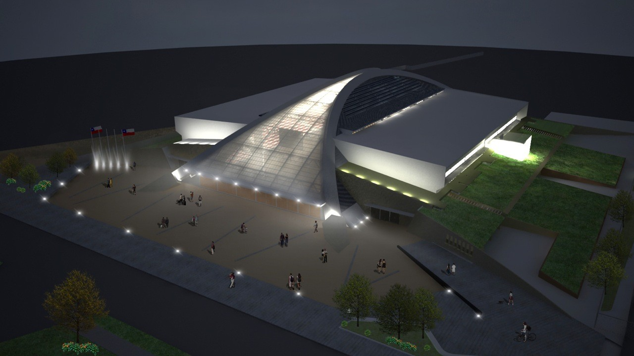 Recinto Polideportivo Odesur / Judson & Olivos Arquitectos, Cortesia de Judson & Olivos