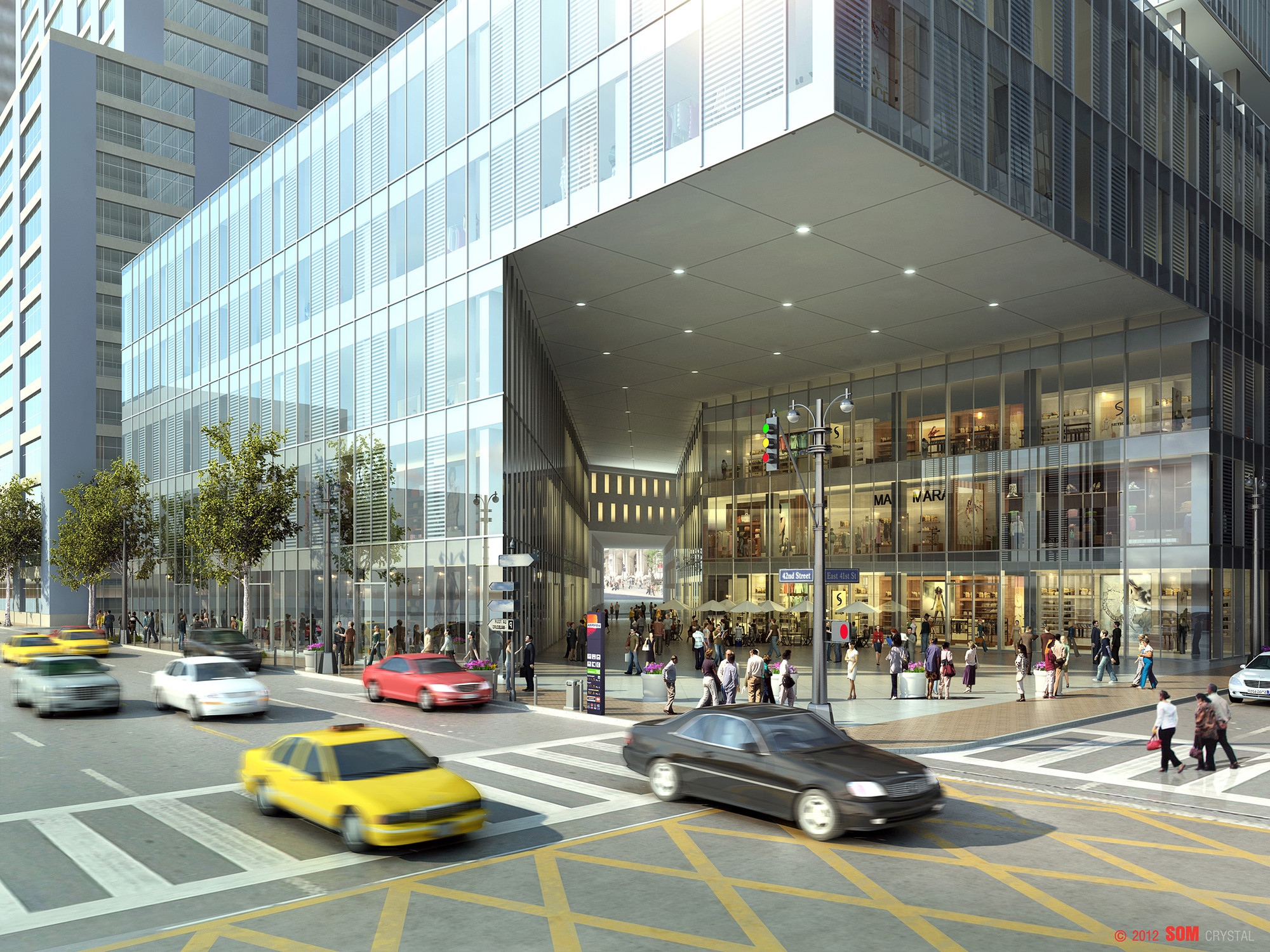 Gallery of som 39 s vision for new york 39 s iconic grand for New space architects