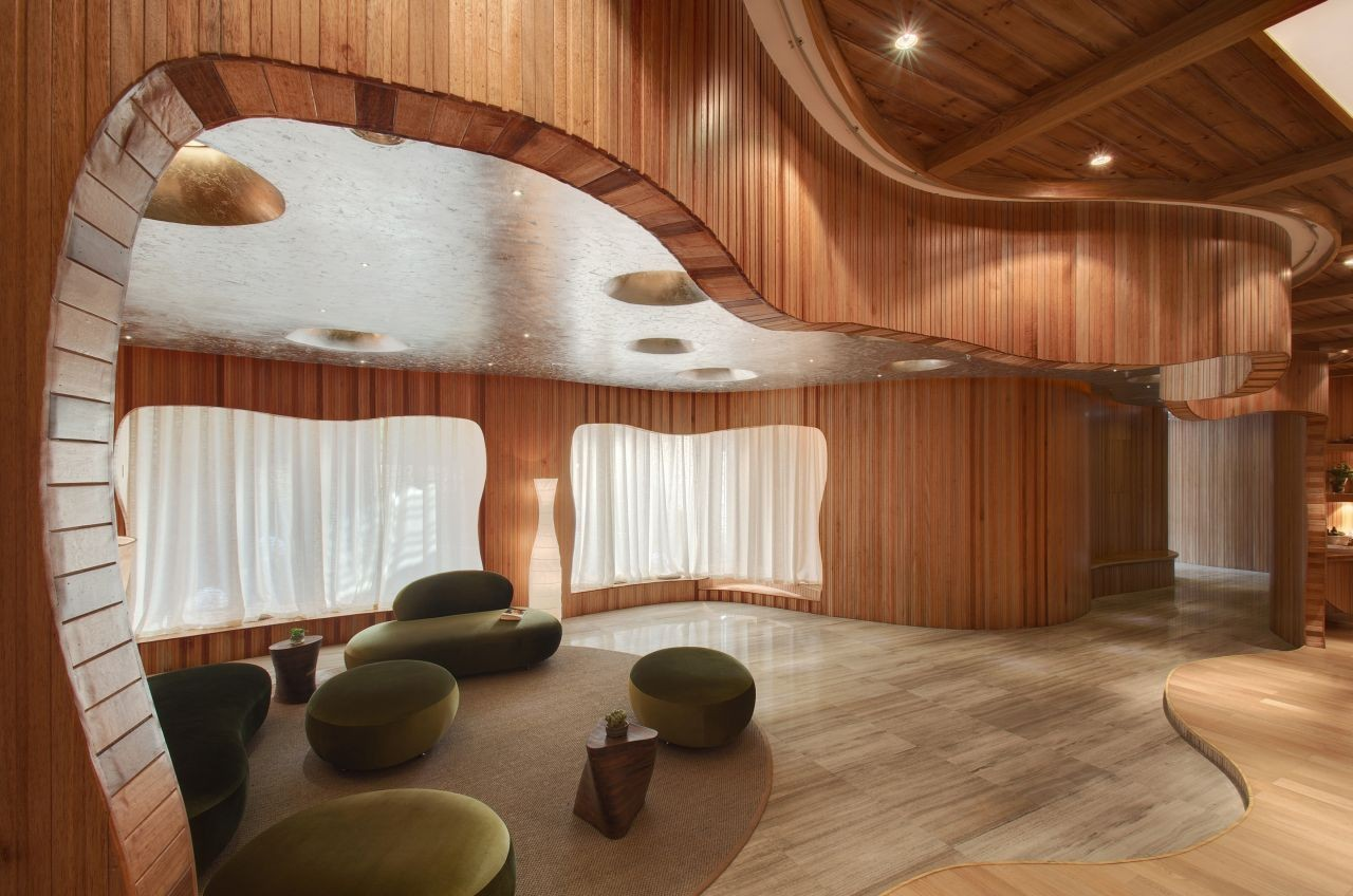Gallery of one taste holistic crox international co for Wood designs for walls interior designers