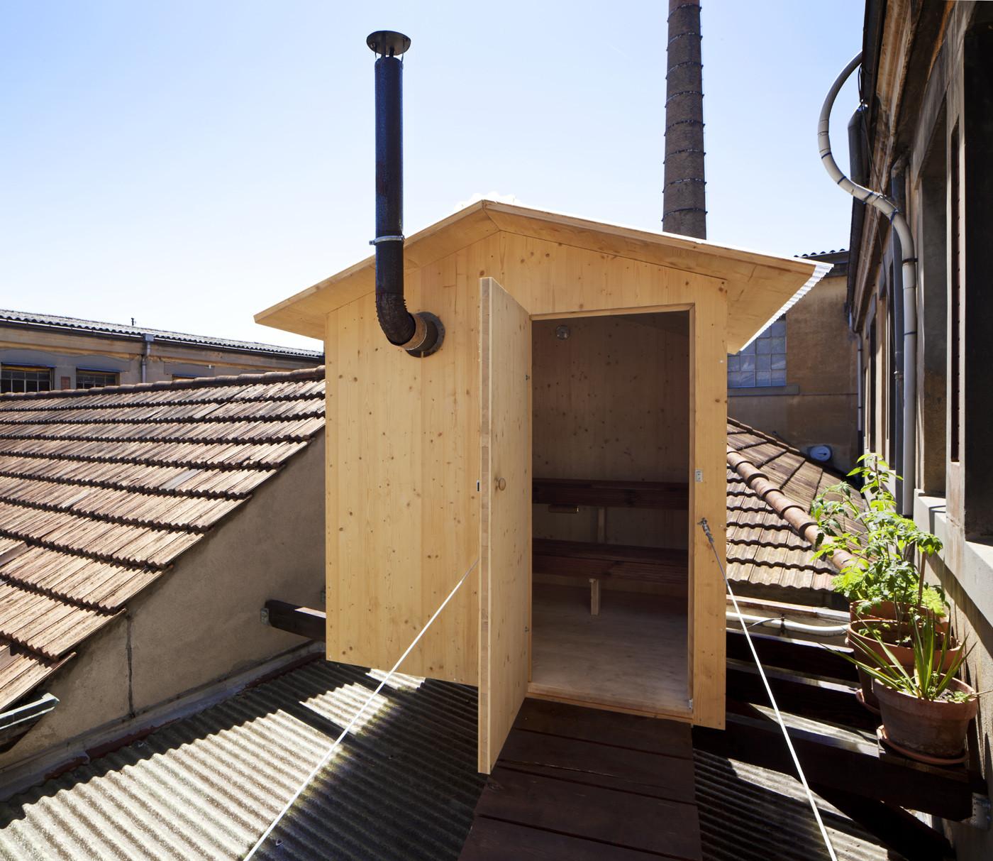 A Sauna  / BUREAU A, © Dylan Perrenoud