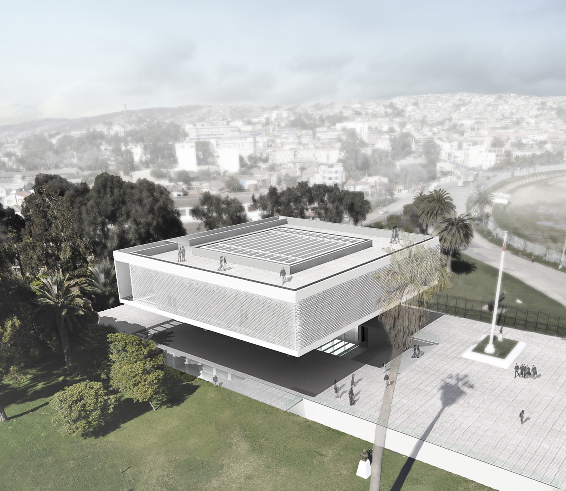 Ganador del concurso aula magna y centro de extensi n for Aulas web arquitectura