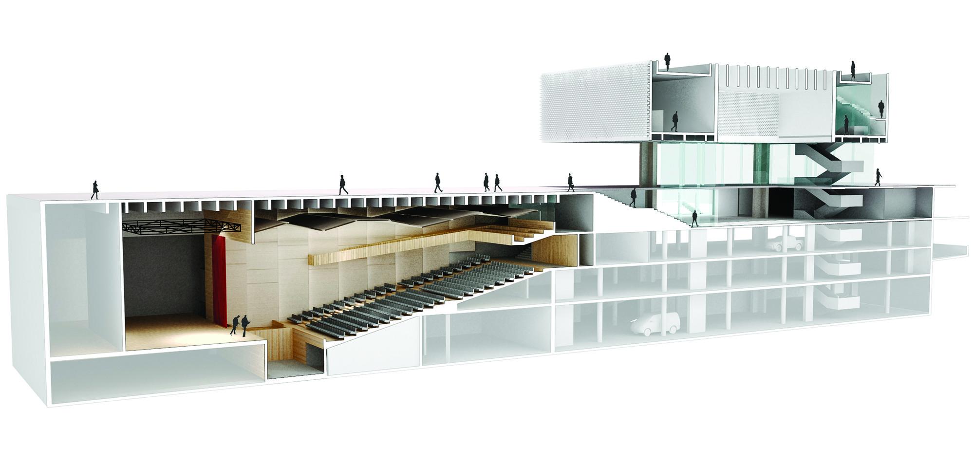 Galer a de ganador del concurso aula magna y centro de for Aulas web arquitectura