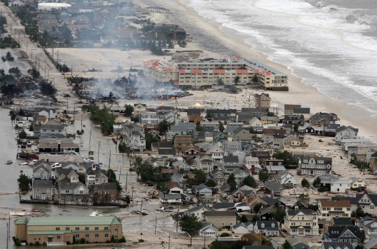 Hurricane Sandy damage north of Seaside, N.J. on Tuesday, Oct. 30, 2012. © Governor's Office / Tim Larsen