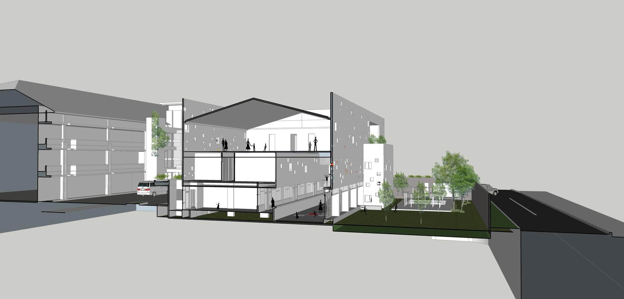 Sekolah bogor raya indra tata adilaras archdaily for Semi open spaces
