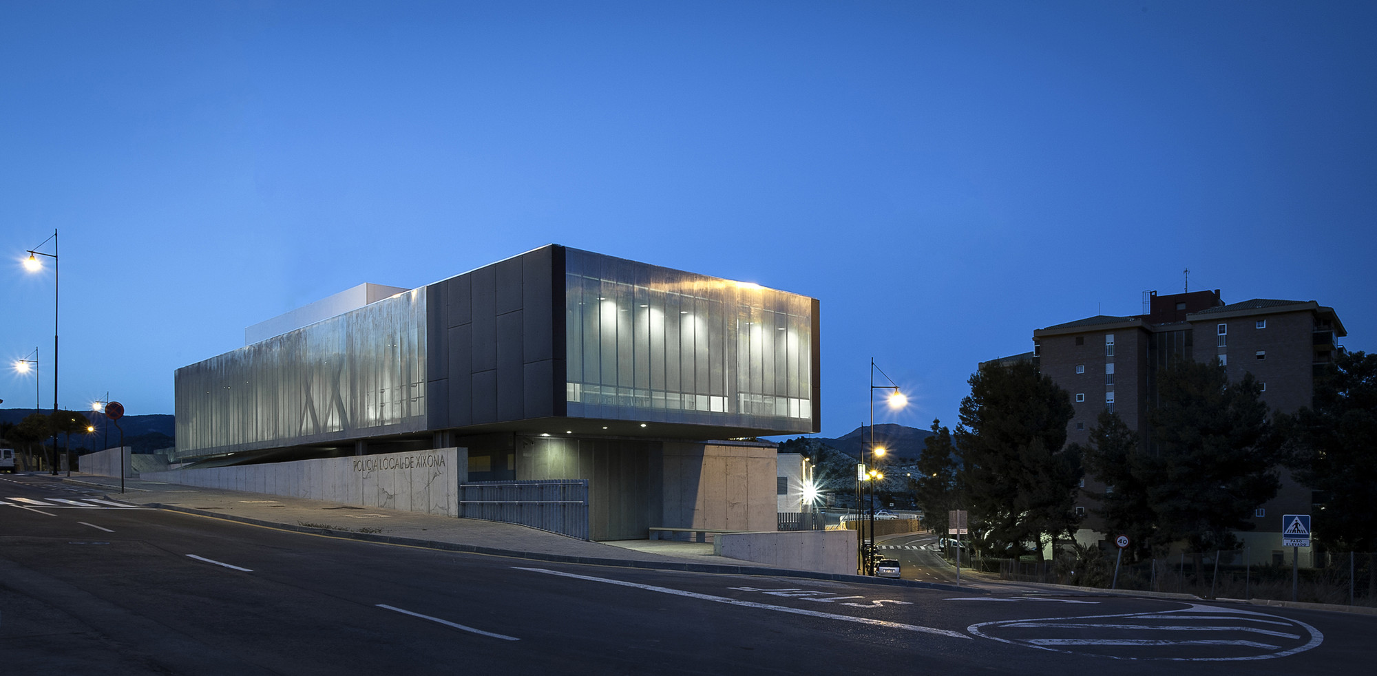Police Station and Multipurpose Space in Xixona / Daniel Martí & Natàlia Ferrer, © David Zarzoso