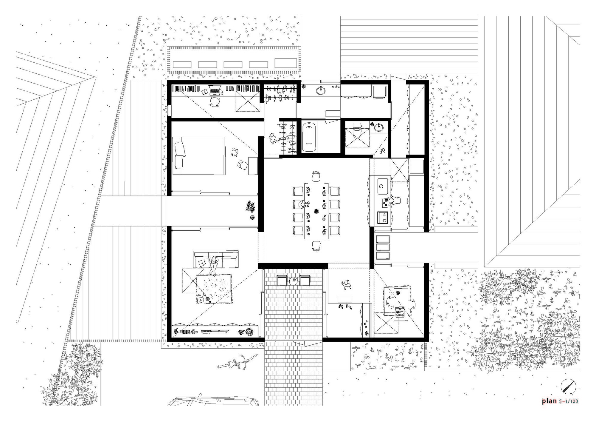 gallery of house yagiyama kazuya saito architects 11. Black Bedroom Furniture Sets. Home Design Ideas