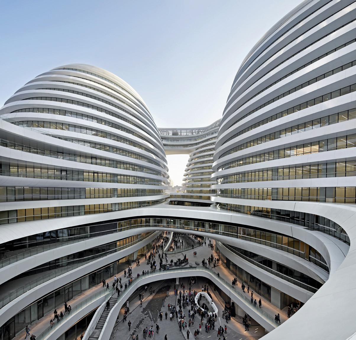 Galaxy soho zaha hadid architects by hufton crow archdaily - Soho architekten ...