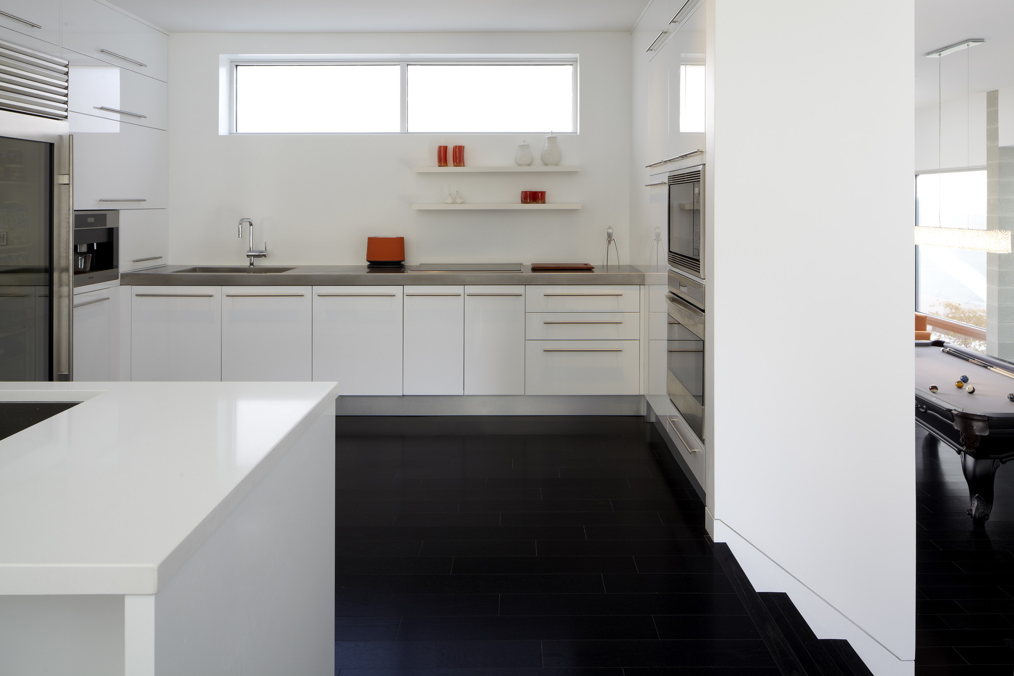 Dark Floor Kitchen Small