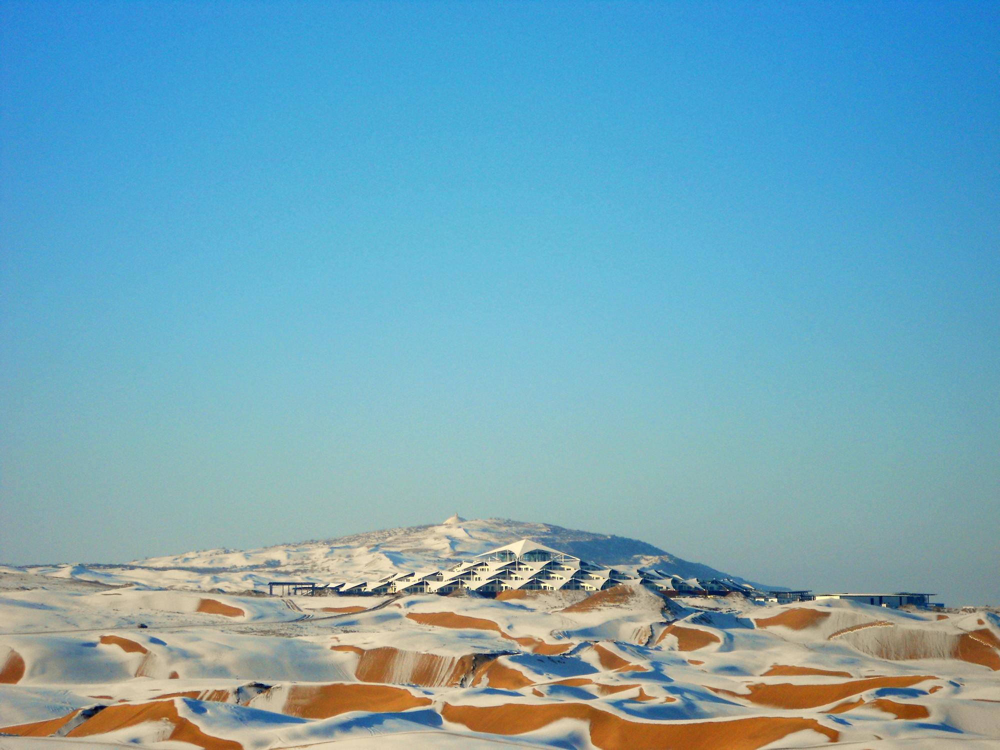Gallery Of Xiangshawan Desert Lotus Hotel Plat