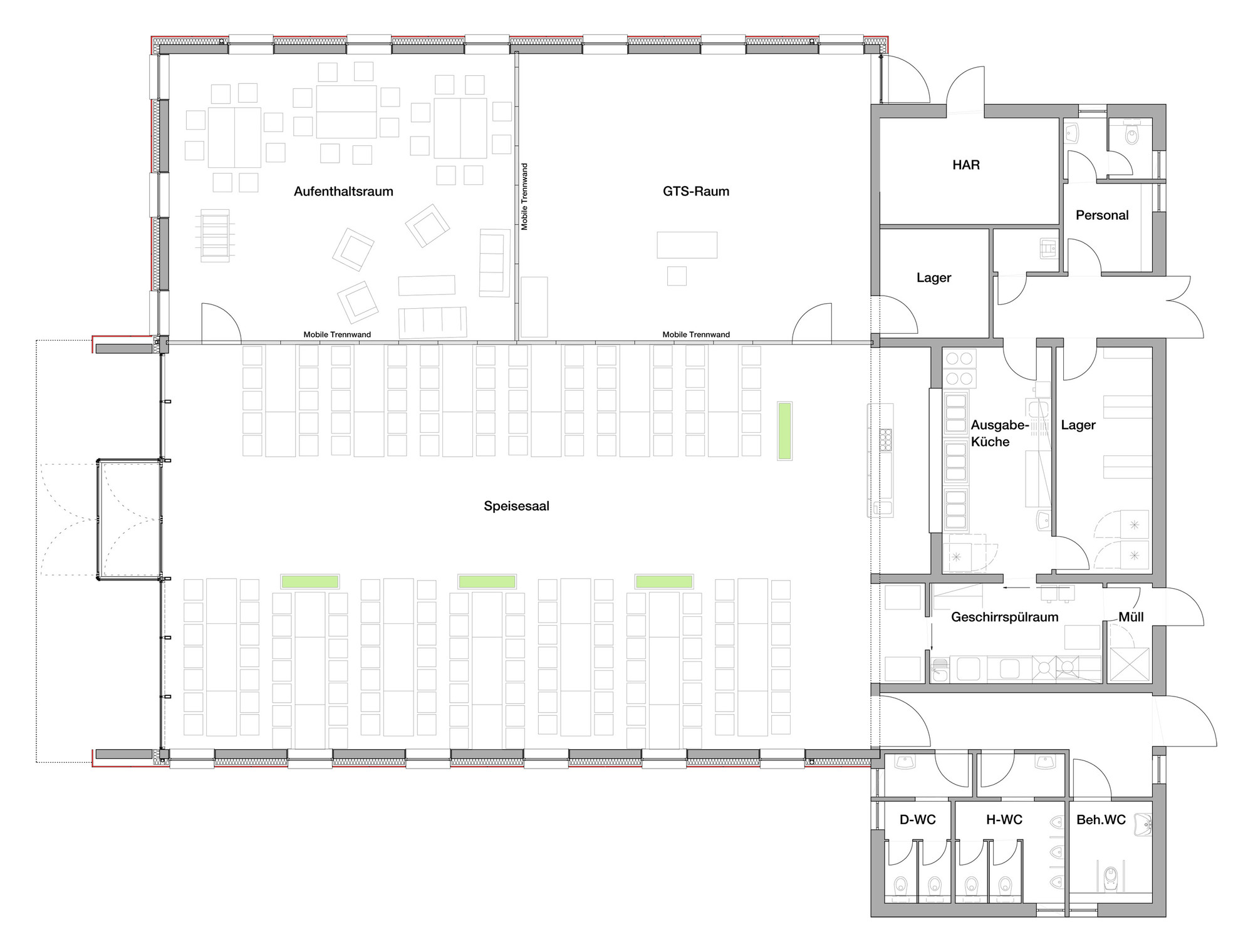 Commercial Kitchen Plan View