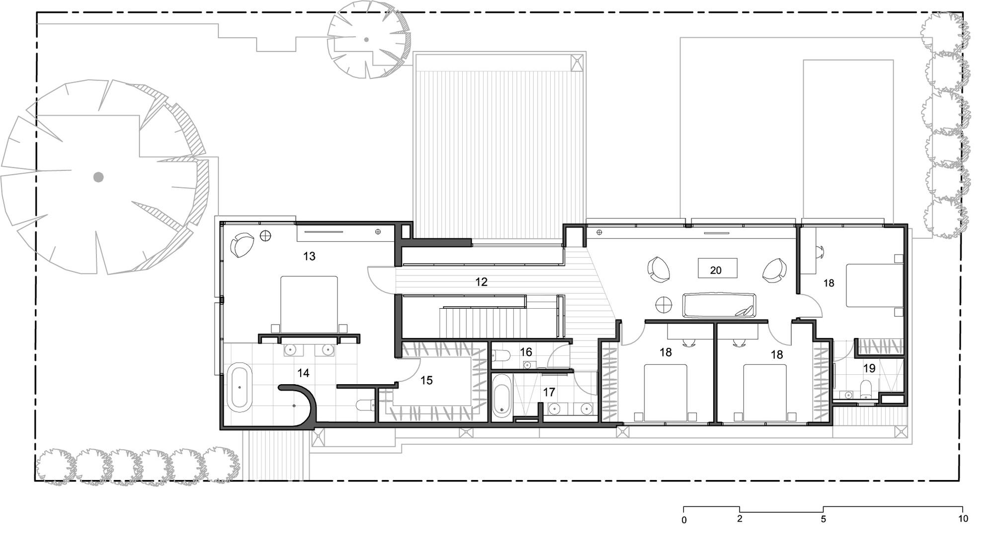 Gallery of block house taylor reynolds 13 for Small industrial house plans
