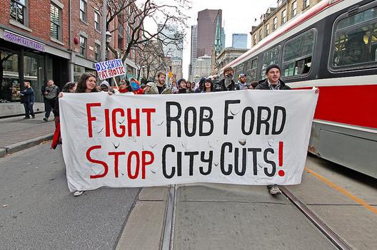 OccupyToronto: Evict Rob Ford March (November 19, 2011). Photo via Flickr User CC Jackman Ciu