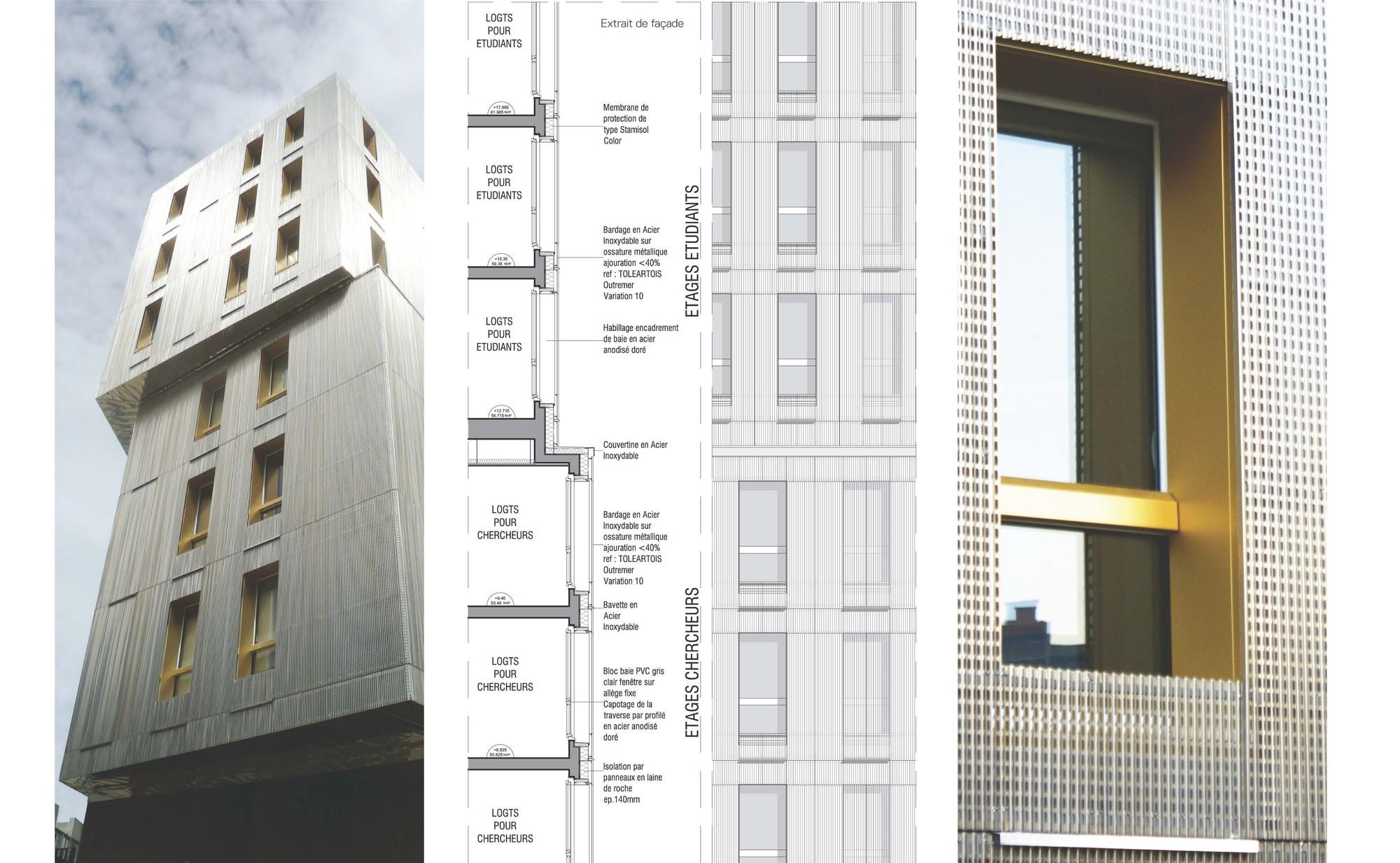 Encadrement De Fenetre Facade gallery of irene joliot curie residences / data [architectes] - 29