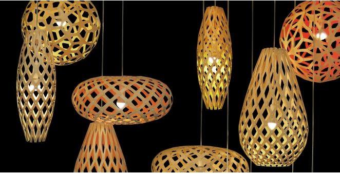 Lámparas de David Trubridge, © vía David Trubridge