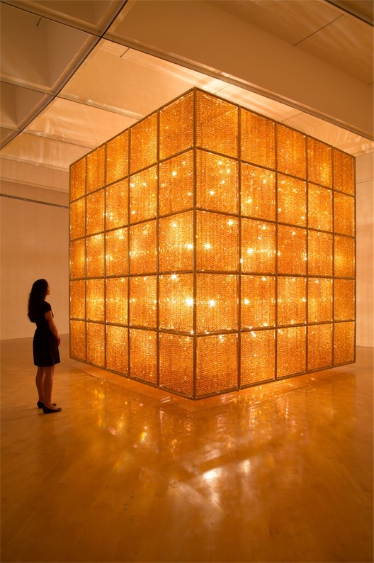 """Ai Weiwei: According  to what?"", Ai Weiwei, Cube Light, 2008."