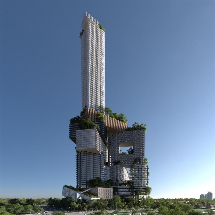 MVRDV propõe cidade vertical de 400 metros de altura em Jacarta, Cortesia de RSI-Studio