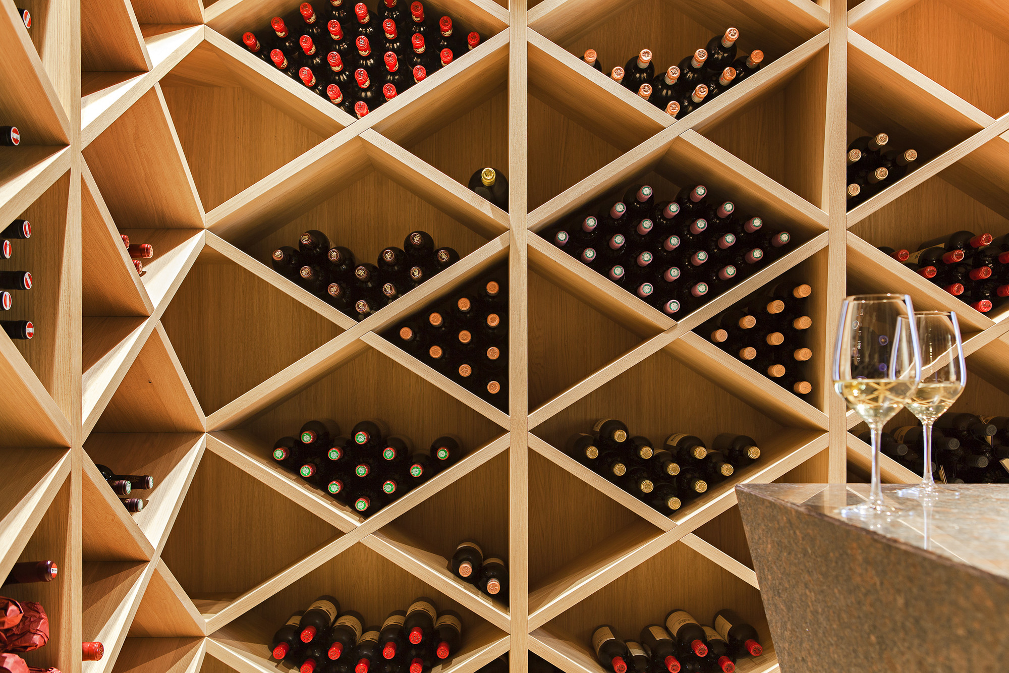 Gallery of house m monovolume architecture design 40 for Garage wine cellar