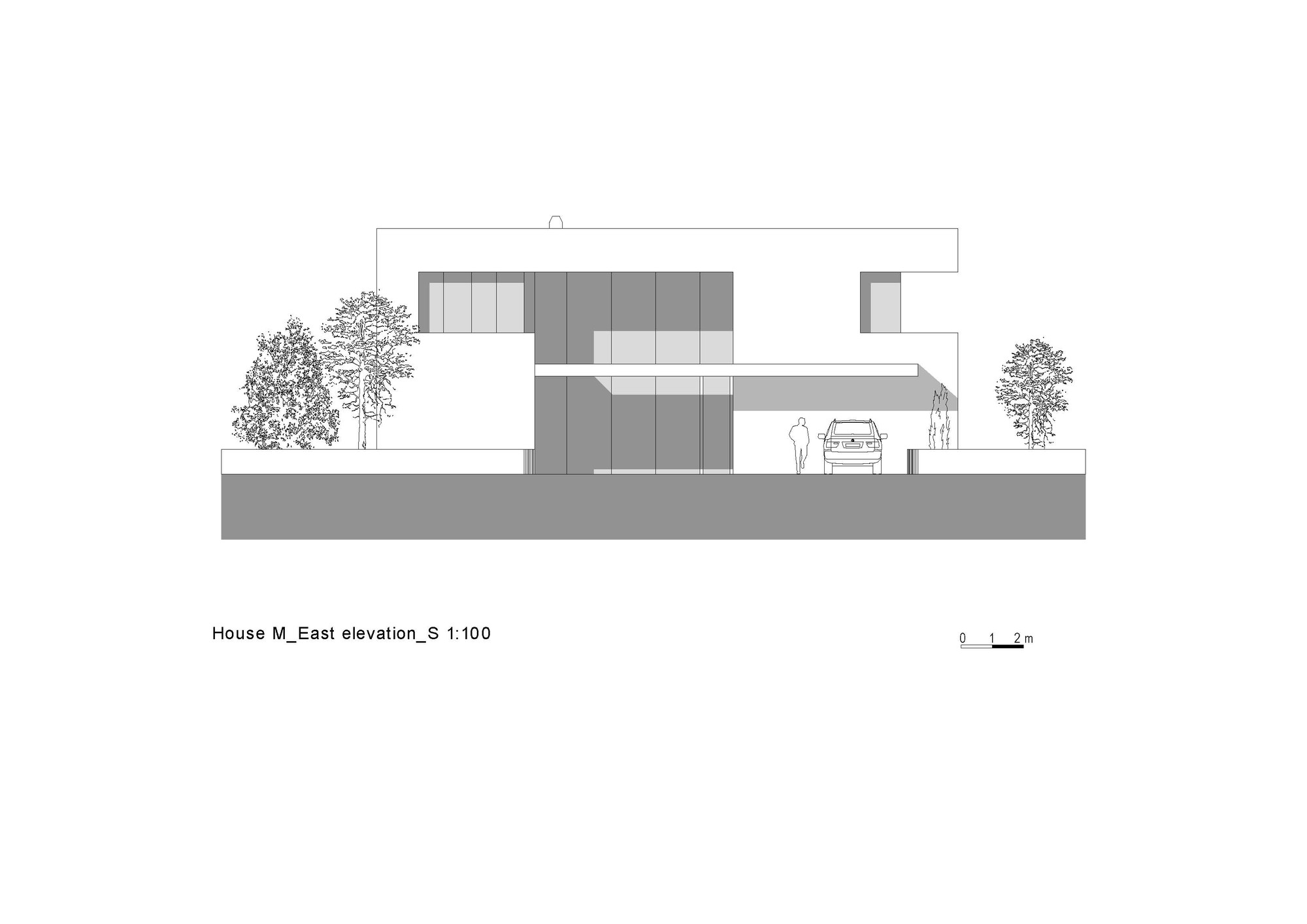 Gallery of house m monovolume architecture design 48 for Architecture house elevation design