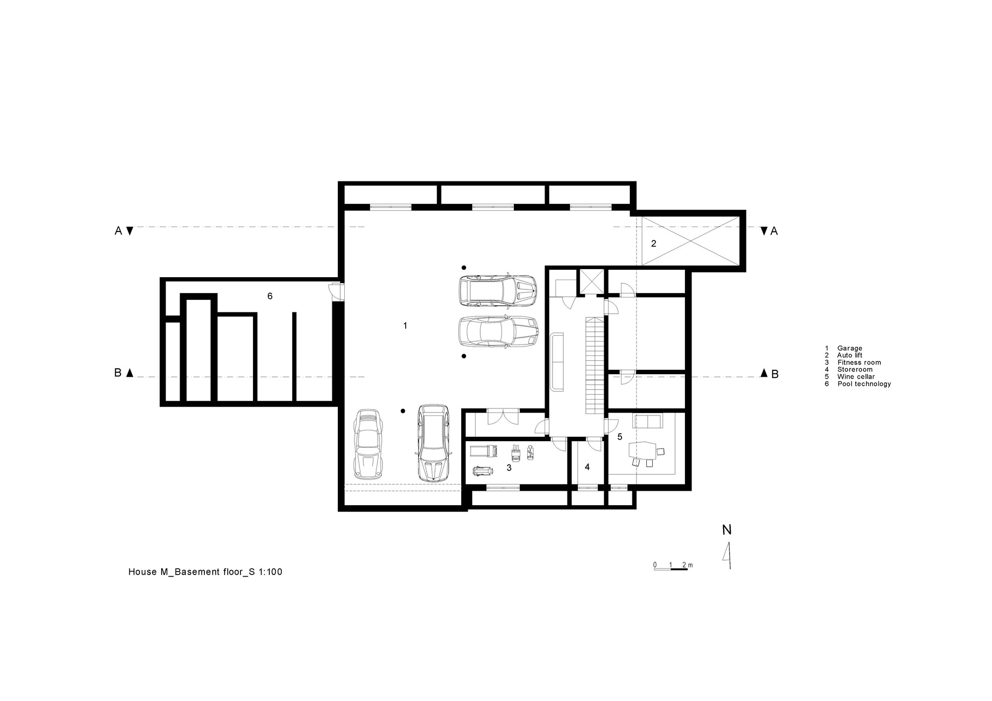 Gallery of house m monovolume architecture design 42 for House floor plans architecture