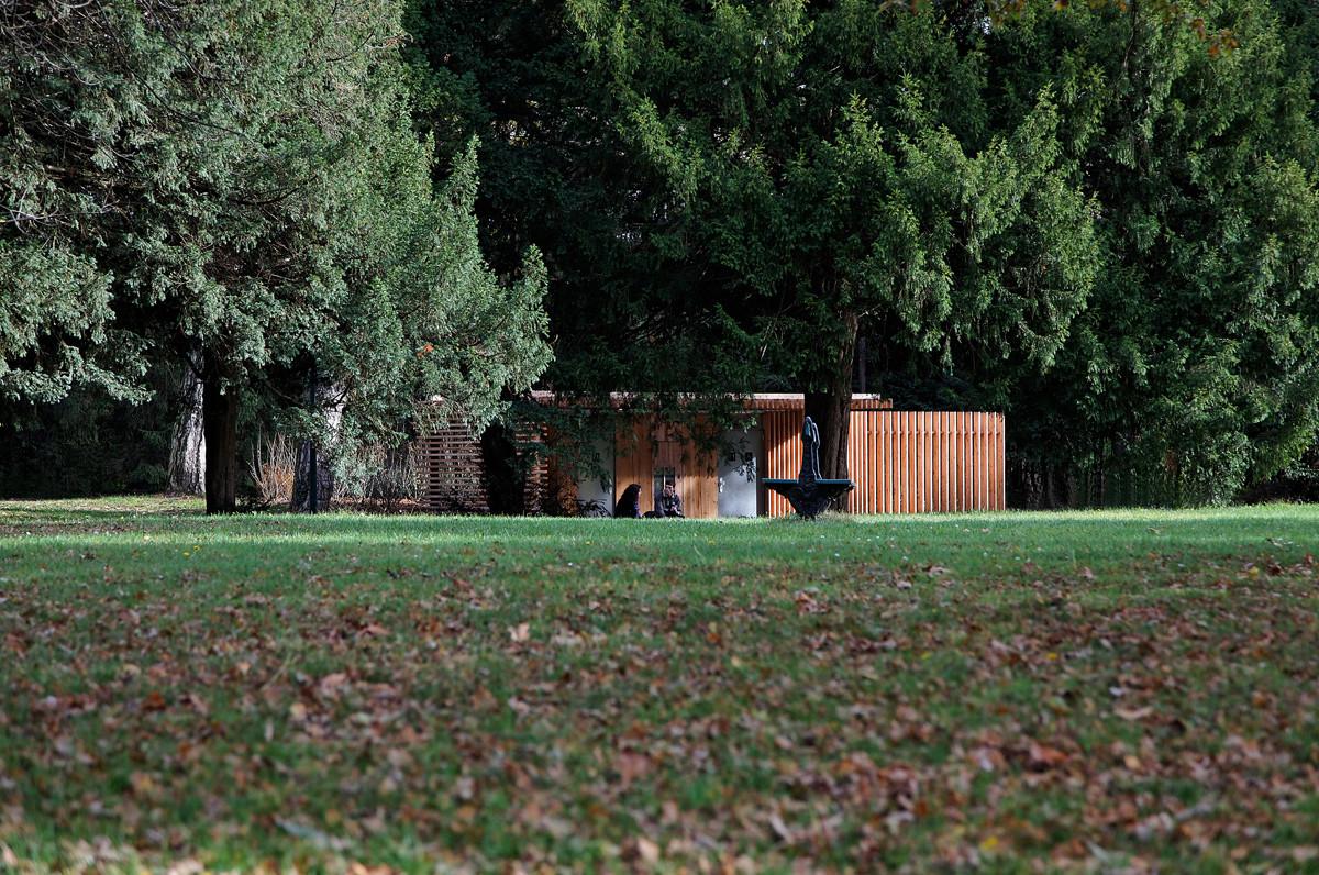 Galeria Banheiros Públicos no Parque Tête d'Or / Jacky Suchail  #8C583F 1200 796