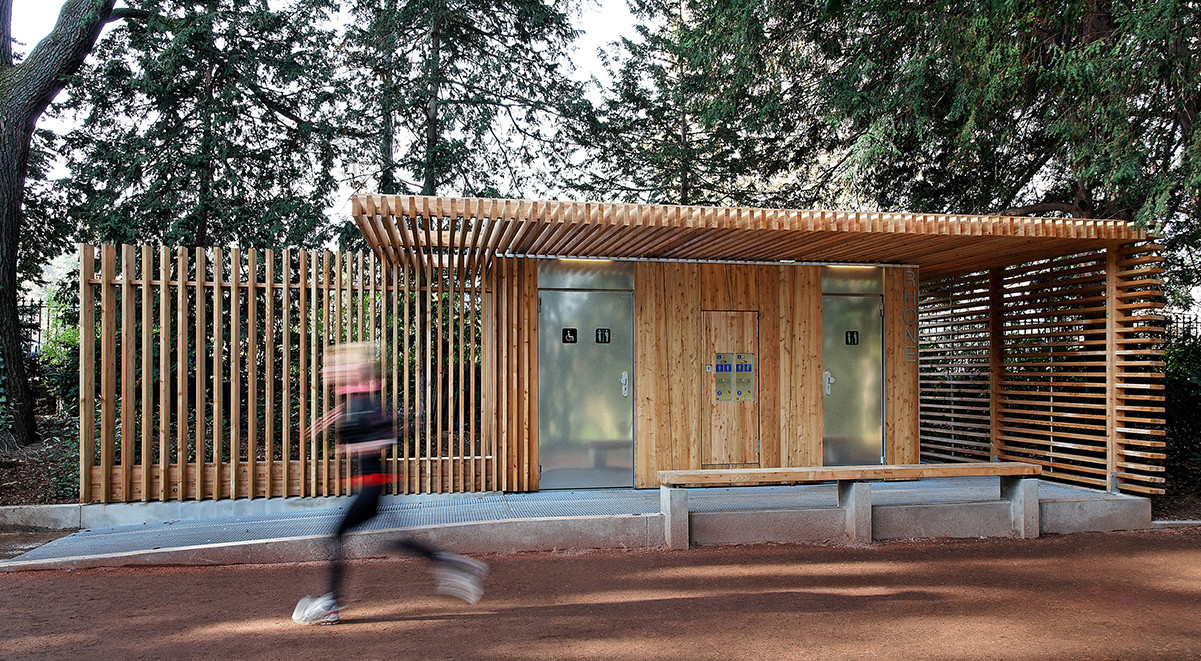 7 Popular Siding Materials To Consider: Public Toilets In The Tête D'Or Park / Jacky Suchail