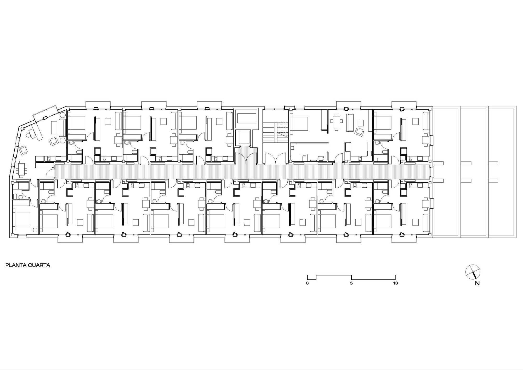 Apartments For Young People, Nursery And Park In San Sebastián / Ignacio Quemada Arquitectos