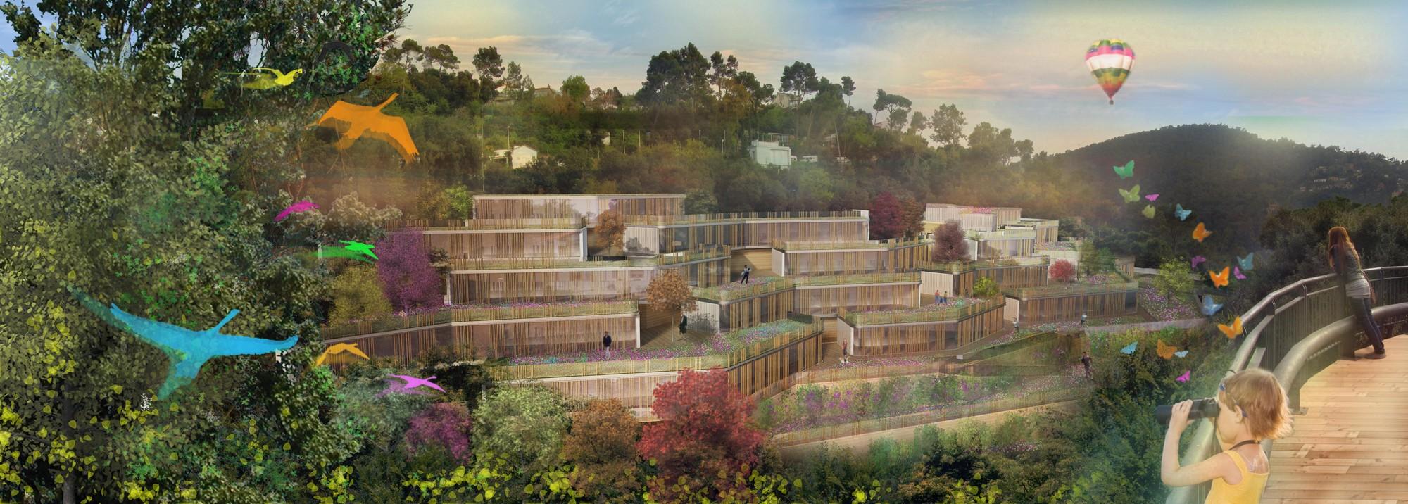 Les Portes del Collserola / Nabito Architects + Guausa y Raveaux + Actar Arquitectura, Cortesia de Nabito Architects + Actar Arquitectura