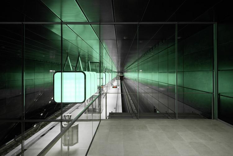 Diseño de Iluminación en la estación de metro Universidad Hafencity, Hamburgo  / Pfarré Lighting Design, © Markus Tollhopf