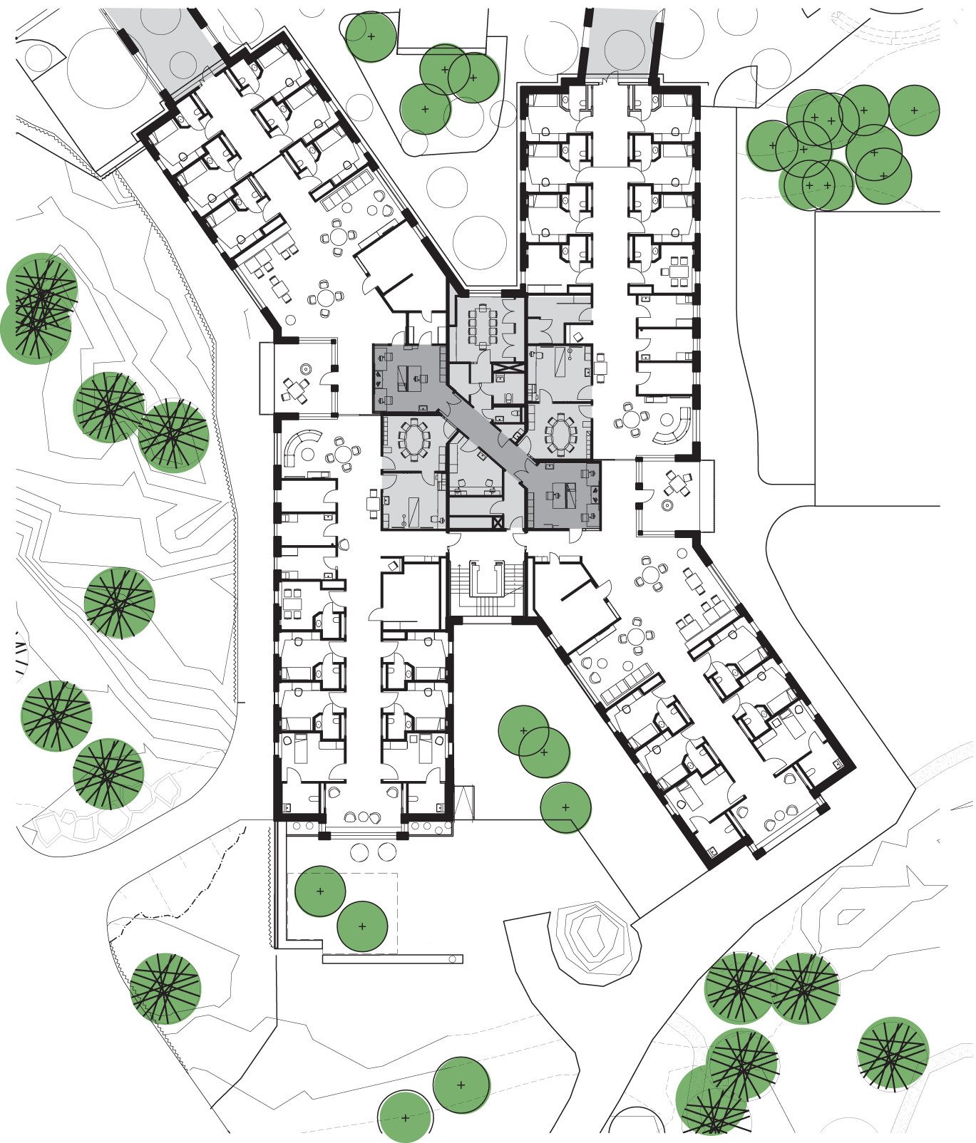 Cancer Center Floor Plan Gallery Of Helix Forensic Psychiatric Clinic Of Stockholm