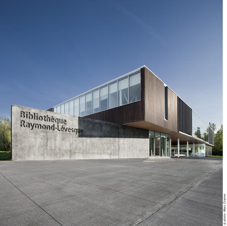 Bibliothèque Raymond-Lévesque  / Manon  Asselin + Jodoin Lamarre Pratte, © Marc Cramer