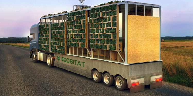 ECObitat: Casa modular transportable, © Felipe Campolino