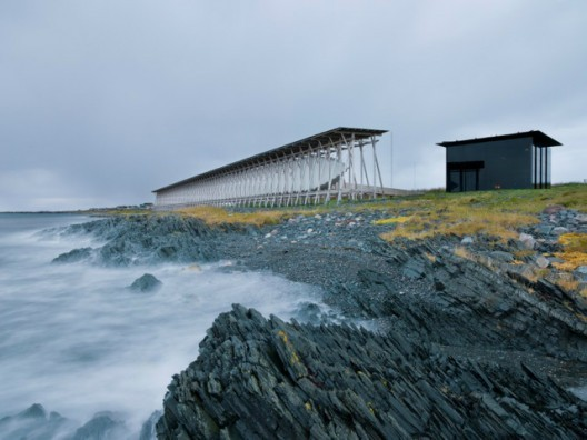 """©  """"Beauty is nothing other than the promise of happiness."""" –Stendhal. Steilneset Memorial by Peter Zumthor and Louise Bourgeos. Photograph by Andrew Meredith."""